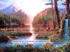 Пейзаж спокойная река в лесу